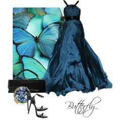 Butterfly, created by moodycat on Polyvore