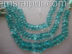 Apetite Briollete Pear Gemstone Beads.