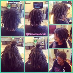 Style: Loc Retight (interlocks)  Client's Hair Type: 4b/c  Hair Added: NA  Products Used: Coiled! by Conscious Coils (Original Refresher Spray)   Time: 1hr 30mins  Style Duration: Retight every 6-8weeks