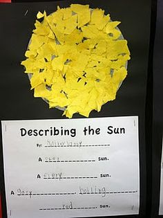 I like this idea it can be used in many different ways to teach descriptive writing