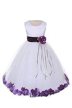 21 Colors Satin Bodice Communion Flower Girl Pageant Petal Dress: Infant-14