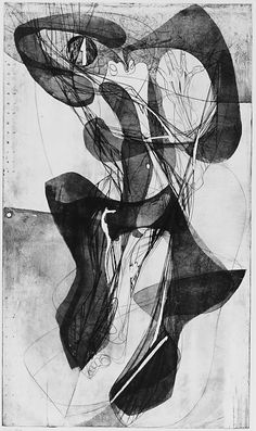Tarantelle, Stanley William Hayter, 1943, Engraving and Etching (sixth state)