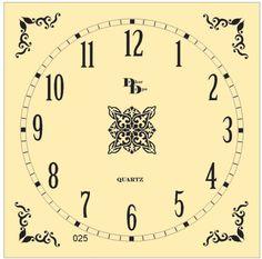 Clock Template, Face Template, Clock Face Printable, Diy Barbie Clothes, Decoupage, Quartz, Hand Painted, Clock Faces, Clocks