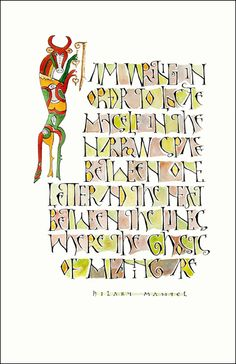 Friends of calligraphy - love the coloured in letters!