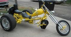 2011 Low-Rider Bobber / Chopper Motorcycle VW Trike