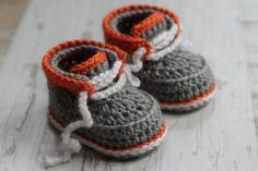 Crochet PATTERN Baby Boys Modern Cool Booties Taika