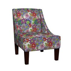 Venda Sloped Arm Chair featuring Mix Brazil Passiflora by joancaronil | Roostery Home Decor