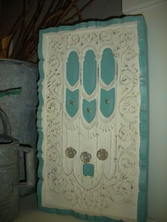 Cottage Beach Shabby Chic Salvage Made Key/Scarf/Coat by TessHome, $125.00