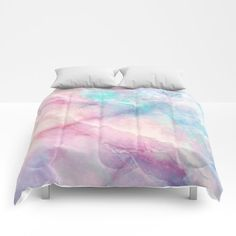 Iridescent Marble Comforters by Cafelab - Queen: x Marble Comforter, Sims, Unicorn Rooms, Toddler Girl Bedding Sets, Marble Pattern, Cool Beds, Bed Spreads, Luxury Bedding, Iridescent