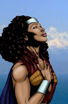 African American Wonder Woman-pinning because I love that it looks like Zoey from Firefly