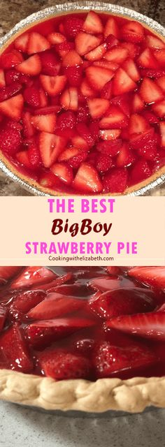 BigBoy Strawberry Pie Classic fresh strawberry pie… if you've never had it, you absolutely MUST try it! BigBoy Strawberry Pie Classic fresh strawberry pie… if you've never had it, you absolutely MUST try it! Just Desserts, Delicious Desserts, Yummy Food, Yummy Snacks, Tasty, Savory Snacks, Dessert Oreo, Appetizer Dessert, Strawberry Recipes