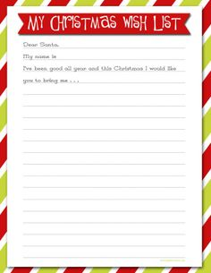 Delightful Order: Christmas Wish List   Free Printable  Christmas List Template For Kids