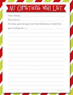 Delightful Order: Christmas Wish List - Free Printable