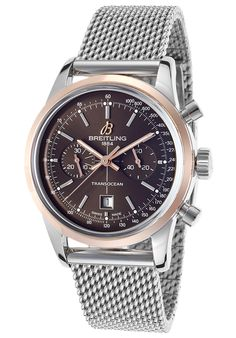 Image for Men's Transocean Automatic Chronograph Silver-Tone Steel Brown Dial from World of Watches