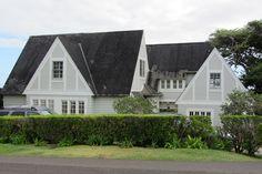 Tudor-revival Crutchfield house, Matsonia Drive by Joel Abroad, via Flickr