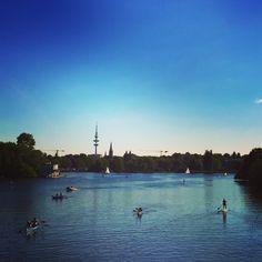 #hamburg #alster #sup #kayak #sun #sommer