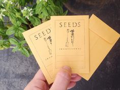Seed Packet Stamp Fill in the Blank Rubber Stamp Grow your