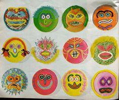 Masque avec des assiettes en carton diy pinterest - Bricolage avec des assiettes en carton ...