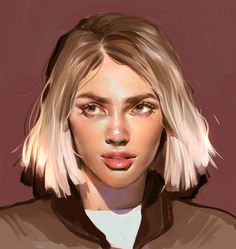 Kai Fine Art is an art website, shows painting and illustration works all over the world. Digital Painting Tutorials, Art Tutorials, Drawn Art, Art Anime, Pretty Art, Looks Cool, Portrait Art, Digital Portrait Painting, Aesthetic Art