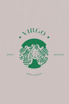 Virgo Art, Zodiac Art, Virgo Zodiac, Zodiac Signs, Logo Construction, Signes Zodiac, Letras Cool, Virgo Constellation Tattoo, Inspiration Logo Design