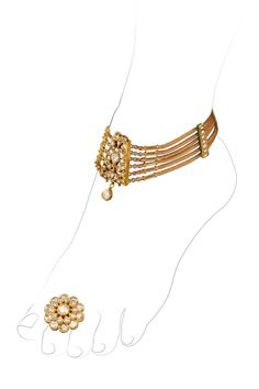 Beautiful ankle bracelet and toe ring, a staple for brides in the Indian culture.