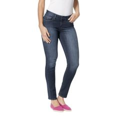 Women's dENiZEN® from the Levis® brand Totally Shaping Fashion Pocket Mid Rise Skinny Jean - Sa