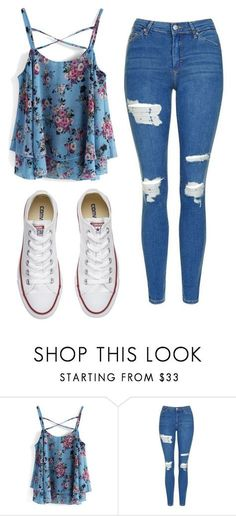 """Untitled #533"" by cuteskyiscute ❤️ liked on Polyvore featuring Chicwish, Topshop and Converse"