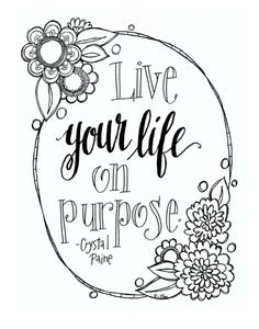 Free printable adult colouring pages with inspirational quotes