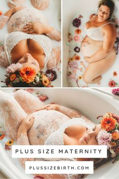While I was excited about the idea of a plus size milk bath photo shoot when my photographer first suggested it, I was also incredibly nervous. I had a hard time finding similar shoots with plus size women my size and was afraid they wouldn't come out as Plus Size Photography, Milk Bath Photography, Photography Photos, Plus Size Pregnancy, Pregnancy Photos, Pregnancy Videos, Pregnancy Memes, Early Pregnancy, Pregnancy Workout