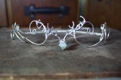 woodland antler circlet forehead crown tiara headpiece made to order, woodland wedding