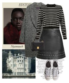 """""""Untitled #1942"""" by ivonce ❤ liked on Polyvore featuring Fenton, Gucci, Violeta by Mango, adidas Originals, Topshop, TIBI and Mark Cross"""