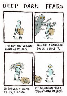 http://deep-dark-fears.tumblr.com/ - Świetny sposób na zajęcie czasu.