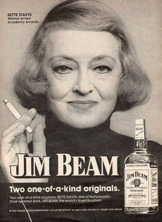 0 bette davis for jim beam bourbon