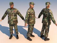 3d model soldier old