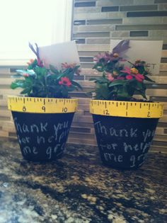 teacher gift - Paint with any color chalkboard paint then write your message with chalk.
