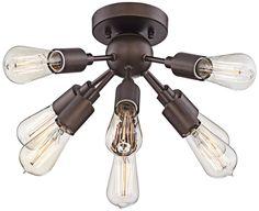 "Hemingson 20 3/4""W 8-Light Oil-Rubbed Bronze Ceiling Light - #8Y693 | www.lampsplus.com"
