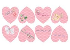 Pink, Hearts, Tags, Label, Romantic