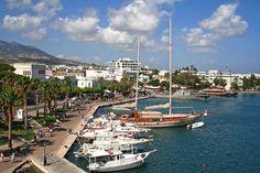 Greek harbor with yachts in Kos island, Greece