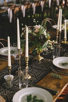This table runner/candle stick combo is amazing | Photo by Geoff Duncan