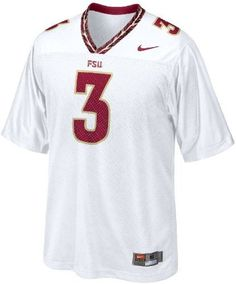 Florida State Seminoles Adult White #3 Football Jersey By Nike by Nike, E.J. Manuel