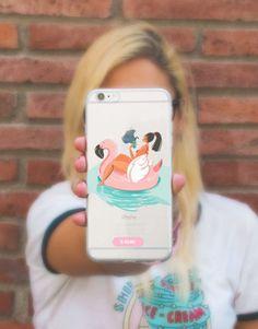 funda-movil-swim-girl-2 Swimming, Phone Cases, See Through, Mobile Cases, Unicorn, Swim, Phone Case