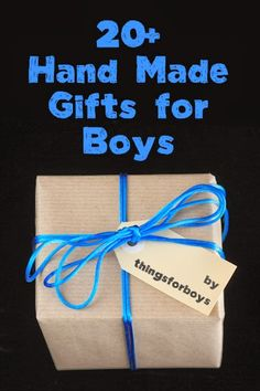 20 Handmade Gift Ideas for Boys!   These are REALLY CUTE ideas.... Lego belt, Fort kit, Pillow fight pillow shield, etch-a-sketch iPod cover, etc.