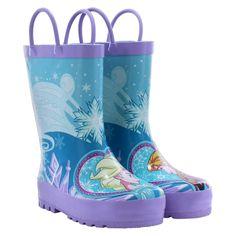 Frozen Toddler Girls' Anna & Elsa Rain Boots - Blue 1, Toddler Girl's