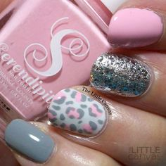 "thelittlecanvas: "" Pink leopard manicure using @serendipitypolish in Summer Sunnies! """