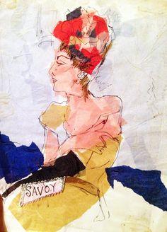 Lady Savoy, 2014 watercolour, mixed media