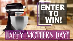 #Win A Kitchen Aid Mixer Valued at $200+ http://swee.ps/UFToZCIRa 5/29