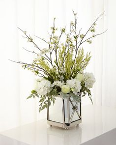 Garden+Reflections+Faux-Floral+Arrangement+by+John-Richard+Collection+at+Neiman+Marcus.