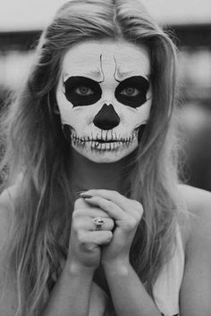 cool skull face paint halloween - Halloween Skull Face Paint Ideas