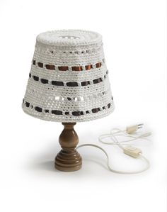 Nordic Yarns and Design since 1928 Crochet Lamp, Knit Crochet, Lamp Shades, Lamp Light, Crochet Patterns, Table Lamp, Lights, Knitting, Amazing