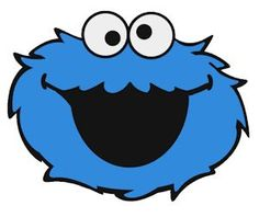 dragon crossing cut files cookie monster - Cookie Monster Face Coloring Pages